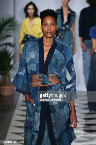 A model walks the runway as STYLE360 hosts Studio 189 by Rosario Dawson and Abrima Erwiah on September 10 2018 in New York City