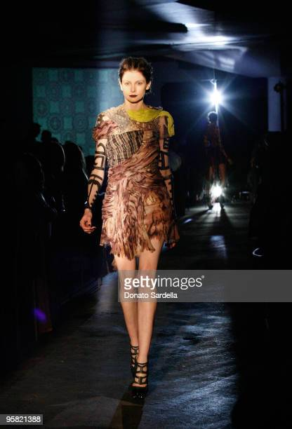 """Model walks the runway at a Vogue produced fashion show during The Art of Elysium's 3rd Annual Black Tie Charity Gala """"Heaven"""" on January 16, 2010 in..."""