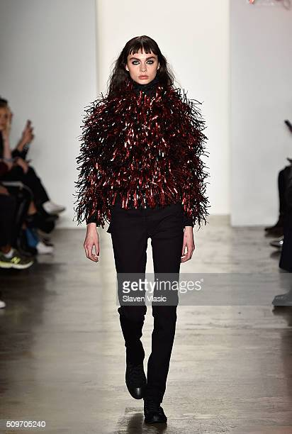 A model walks the runway at Adam Selman fashion show during Fall 2016 MADE Fashion Week at Milk Studios on February 11 2016 in New York City