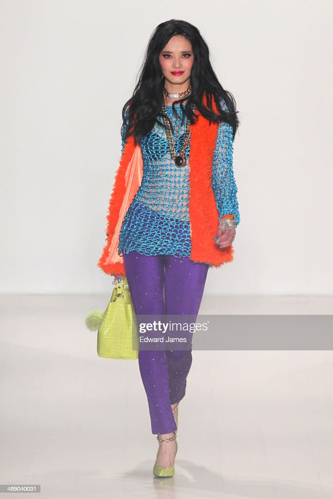 A model walks the runway at Betsey Johnson during Mercedes-Benz Fashion Week Fall 2014 at The Salon at Lincoln Center on February 12, 2014 in New York City.