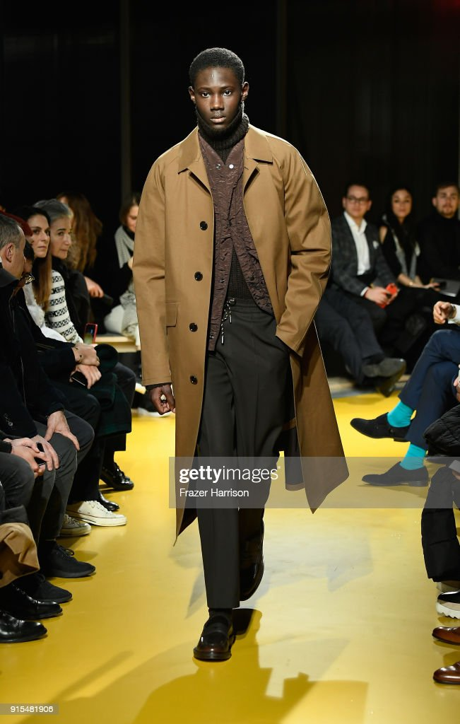 BOSS Menswear - Runway - February 2018 - New York Fashion Week Mens' : Nachrichtenfoto