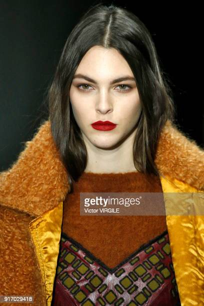 A model walks the runway at Bottega Veneta Ready to Wear Fall/Winter 20182019 during New York Fashion Week on February 9 2018 in New York City