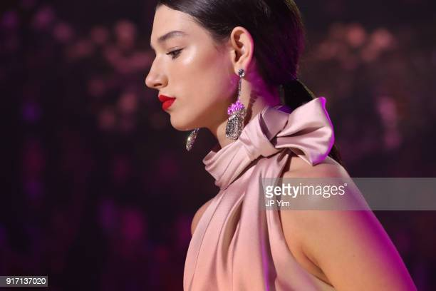 A model walks the runway at Brandon Maxwell Fall Winter 2018 Collection at the Appel Room on February 11 2018 in New York City