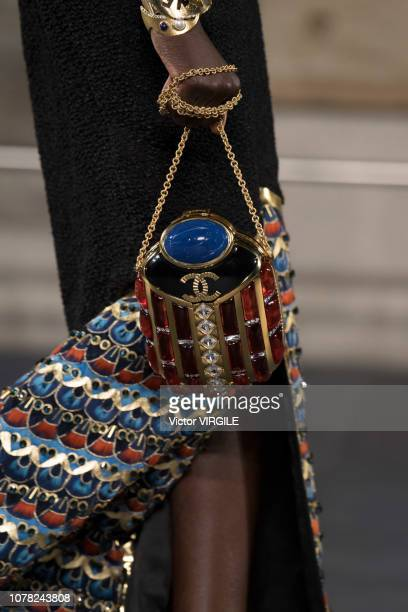 Model walks the runway at Chanel Metiers D'Art 2018/2019 Fashion show at The Metropolitan Museum of Art on December 04, 2018 in New York City.