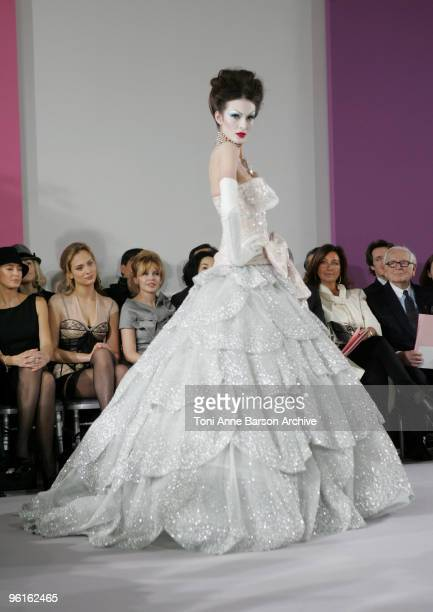 A model walks the runway at Christian Dior HauteCouture show as part of the Paris Fashion Week Spring/Summer 2010 at Boutique Dior on January 25 2010...