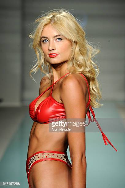 A model walks the runway at Cirone Swim Runway Show during Art Hearts Fashion Miami Swim Week Presented by AIDS Healthcare Foundation at Collins Park...