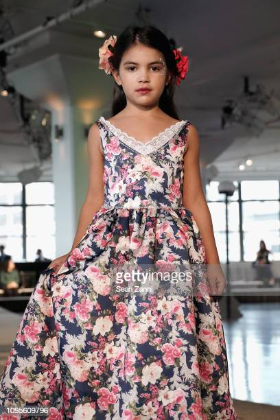 A model walks the runway at Cosmopolitan NYFW on February 8 2019 in New York City