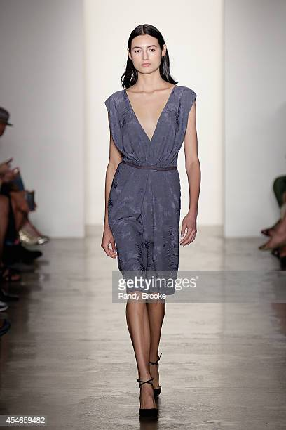 Model walks the runway at Costello Tagliapietra during MADE Fashion Week Spring 2015 at Milk Studios on September 4 2014 in New York City