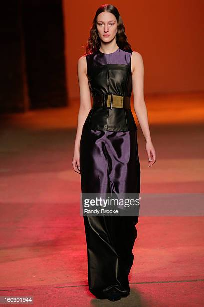 A model walks the runway at Creatures Of The Wind during Fall 2013 MercedesBenz Fashion Week on February 7 2013 in New York City