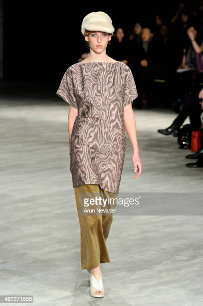 A model walks the runway at Creatures Of The Wind fashion show during MercedesBenz Fashion Week Fall 2014 at The Pavilion at Lincoln Center on...