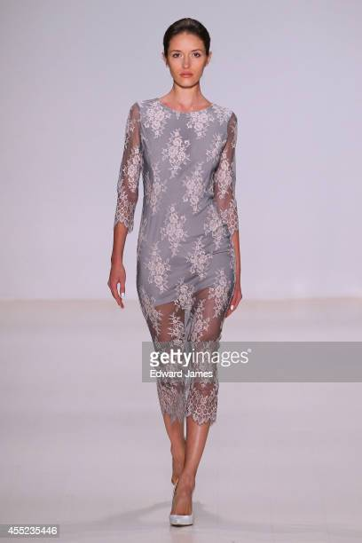 A model walks the runway at Erin Fetherston during MercedesBenz Fashion Week Spring 2015 at The Salon at Lincoln Center on September 10 2014 in New...