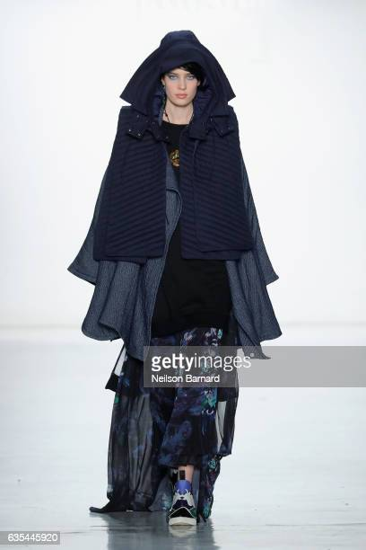 A model walks the runway at Fashion Hong Kong Fall/Winter 2017 during New York Fashion Week The Shows at Gallery 3 Skylight Clarkson Sq on February...