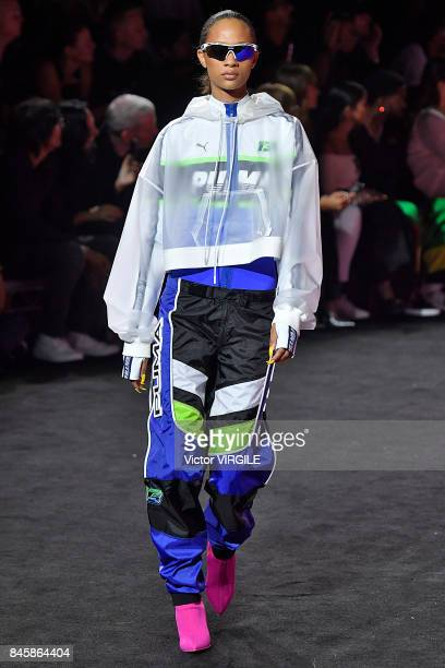 A model walks the runway at Fenty Puma By Rihanna Spring/Summer 2018 fashion show during New York Fashion Week on September 10 2017 in New York City