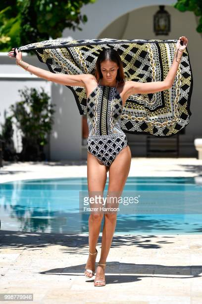 A model walks the runway at Gottex Cruise 2019 Runway Show on July 14 2018 in Miami Beach Florida