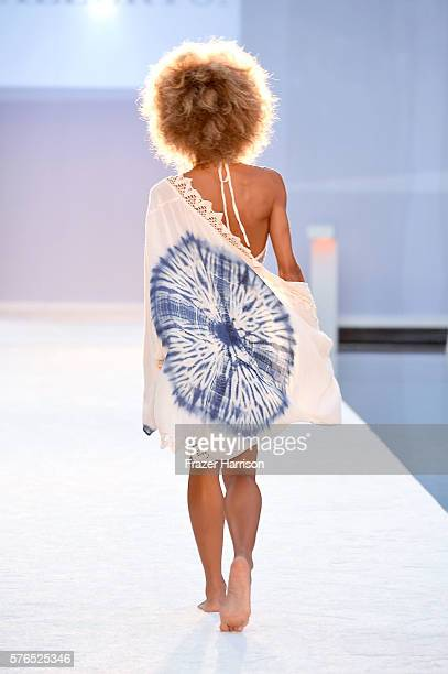 A model walks the runway at Hammock 2017 Collection at SwimMiami at W South Beach on July 15 2016 in Miami Beach Florida