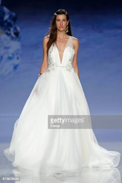 A model walks the runway at Inmaculada Garcia show during Barcelona Bridal Fashion Week 2017 on April 26 2017 in Barcelona Spain