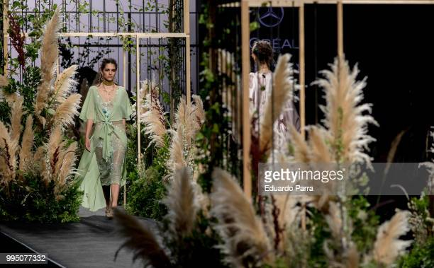 A model walks the runway at iNunez show at Mercedes Benz Fashion Week Madrid Spring/ Summer 2019 on July 10 2018 in Madrid Spain