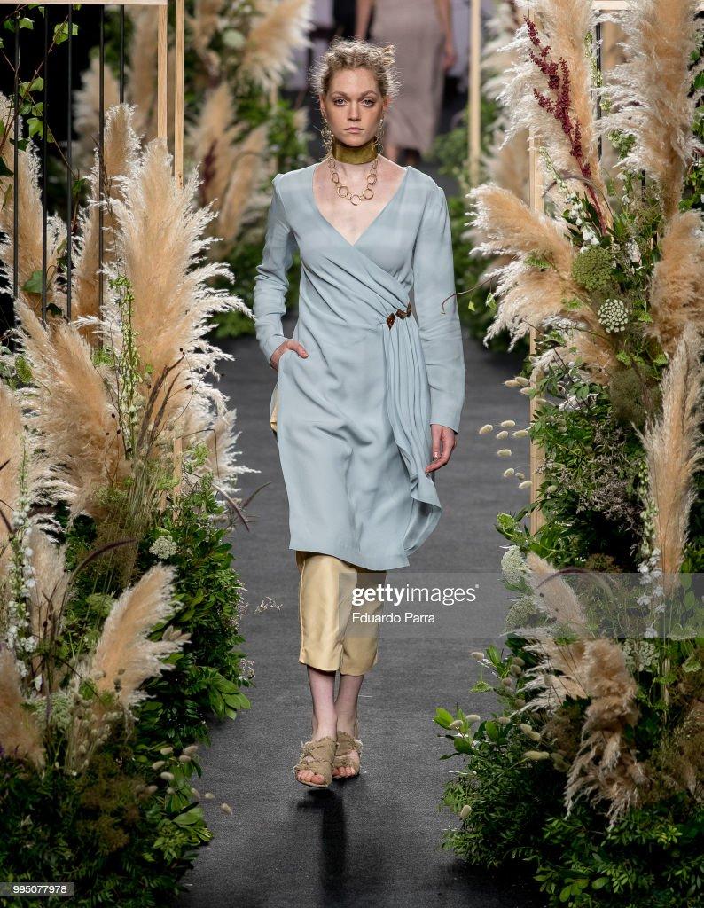 A model walks the runway at iNunez show at Mercedes Benz Fashion Week Madrid Spring/ Summer 2019 on July 10, 2018 in Madrid, Spain.