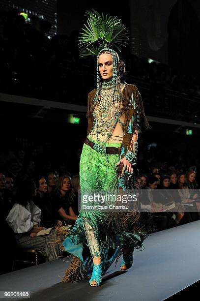 A model walks the runway at JeanPaul Gaultier Haute Couture fashion show as part of the Paris Fashion Week Haute Couture S/S 2010 on January 27 2010...