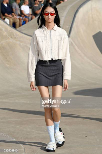 A model walks the runway at John Elliott Spring/Summer 2019 fashion show during New York Fashion Week on September 6 2018 in New York City