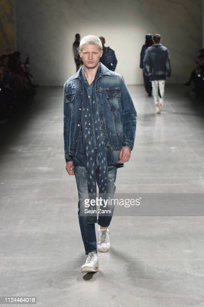 A model walks the runway at John John Fashion Show during New York Fashion Week at Gallery I at Spring Studios on February 12 2019 in New York City