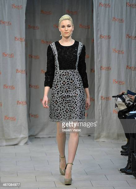 A model walks the runway at JSong Way presentation on February 5 2014 in New York City