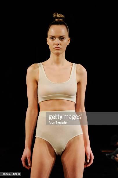 A model walks the runway at KENTARO KAMEYAMA At New York Fashion Week Powered By Art Hearts Fashion NYFW at The Angel Orensanz Foundation on February...