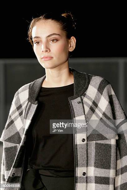 A model walks the runway at Kerastase Paris at Thakoon S/S 2017 Show during New York Fashion Week The Shows on September 8 2016 in New York City