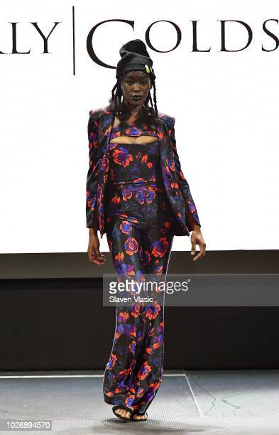 A model walks the runway at Kimberly Goldson fashion show during New York Fahion Week at Capitale on September 4 2018 in New York City