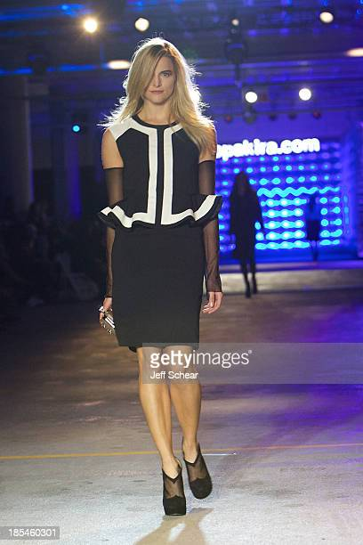 Model walks the runway at Kristin Cavallari Hosts Akira's 11th Annual Fall Fashion Show Featuring Kristin Cavallari By Chinese Laundry on October 20...