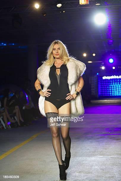Model walks the runway at Kristin Cavallari Hosts Akira's 11th Annual Fall Fashion Show Featuring Kristin Cavallari By Chinese Laundry on October 20...