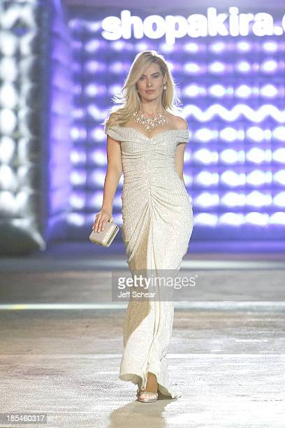 A model walks the runway at Kristin Cavallari Hosts Akira's 11th Annual Fall Fashion Show Featuring Kristin Cavallari By Chinese Laundry on October...