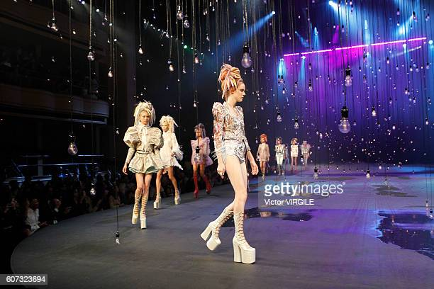 Model walks the runway at Marc Jacobs Ready to Wear Spring Summer 2017 show during New York Fashion Week on September 15, 2016 in New York City.