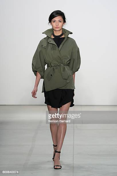 A model walks the runway at Marissa Webb fashion show during New York Fashion Week The Shows at The Gallery Skylight at Clarkson Sq on September 8...