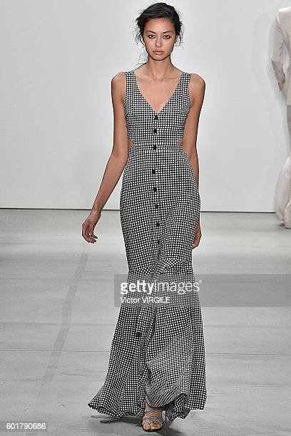 Model walks the runway at Marissa Webb fashion show during New York Fashion Week: The Shows at The Gallery, Skylight at Clarkson Sq on September 8,...