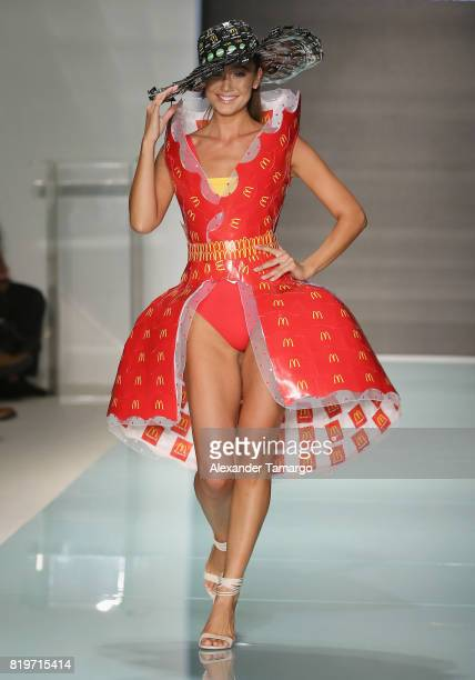 A model walks the runway at McDCouture Makes A Splash At Miami Swim Week at 2100 Collins Ave on July 20 2017 in Miami Florida McDonald's made a...