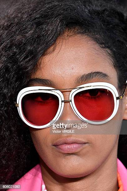 A model walks the runway at Michael Kors show during New York Fashion Week on September 14 2016 in New York City