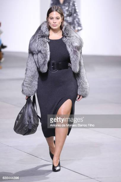 A model walks the runway at Michael Kors show during New York Fashion Week at Spring Studios on February 15 2017 in New York City