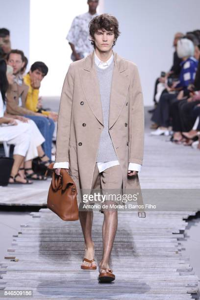 Model walks the runway at Michael Kors show during New York Fashion Week at Spring Studios on September 13, 2017 in New York City.