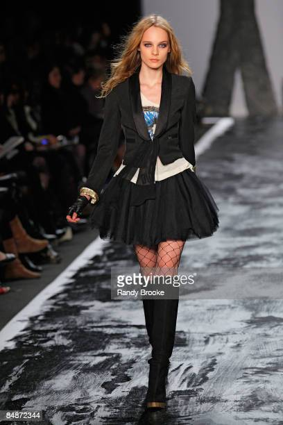 A model walks the runway at Miss Sixty during MercedesBenz Fashion Week Fall 2009 at The Tent in Bryant Park on February 15 2009 in New York City