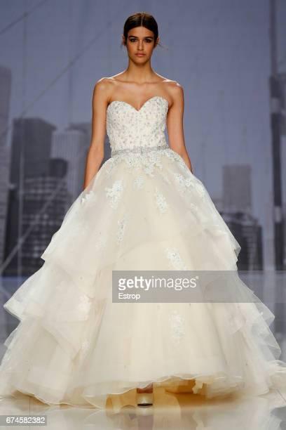 cb90e75ca3 A model walks the runway at Morilee Madeline Gardner show during Barcelona  bridal Fashion Week 2017