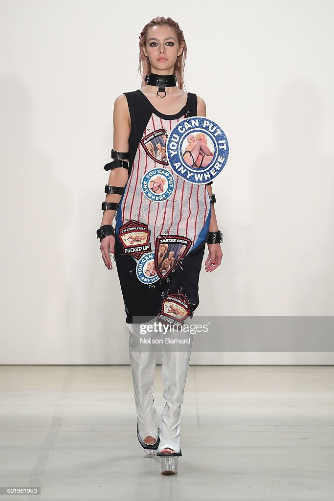 A model walks the runway at Namilia fashion show during New York Fashion Week: The Shows September 2016 at The Gallery, Skylight at Clarkson Sq on September 10, 2016 in New York City.