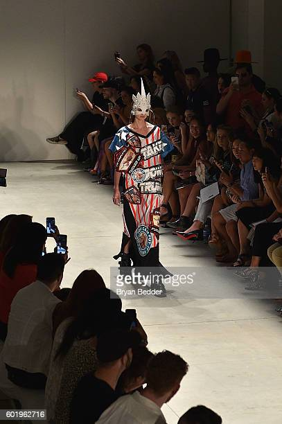 A model walks the runway at Namilia fashion show during New York Fashion Week The Shows September 2016 at The Gallery Skylight at Clarkson Sq on...