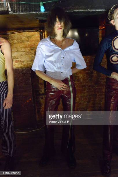 A model walks the runway at Nihl Ready to Wear Spring/Summer 2020 fashion show during men's New York Fashion Week on June 5 2019 in New York City