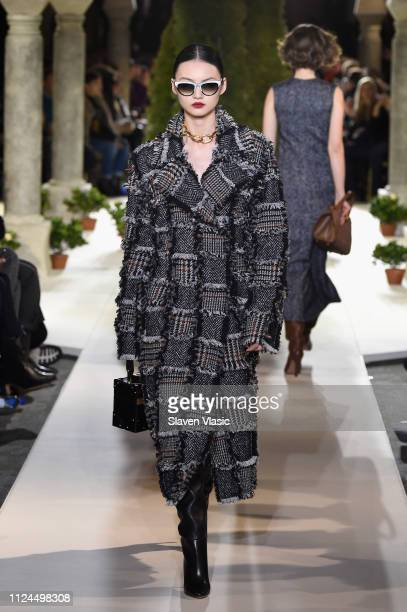 A model walks the runway at Oscar De La Renta during New York Fashion Week at the Cunard Building on February 12 2019 in New York City