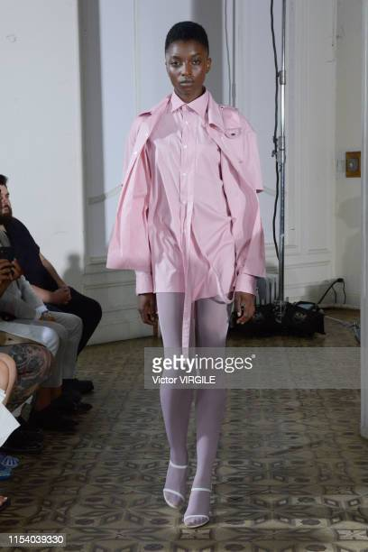 A model walks the runway at Private Policy Ready to Wear Spring/Summer 2020 fashion show during men's New York Fashion Week on June 5 2019 in New...