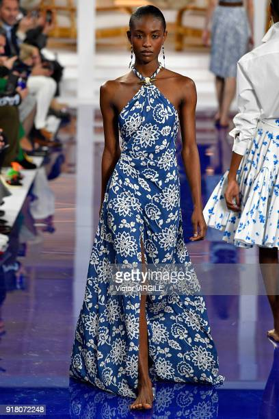 757def330acd A model walks the runway at Ralph Lauren Ready to Wear Spring Summer 2018  fashion