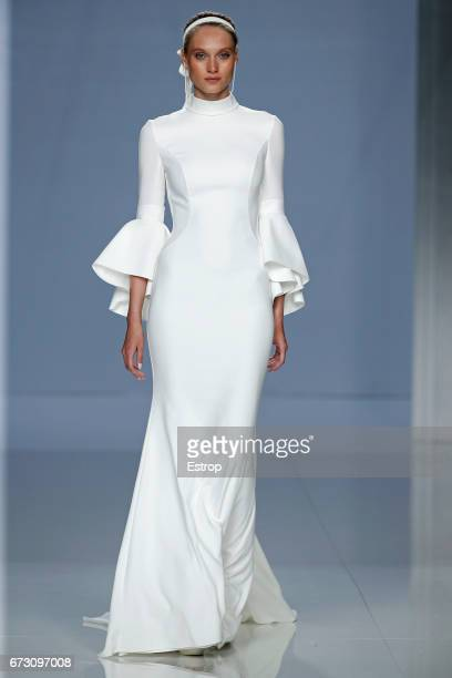A model walks the runway at Rosa Clara Show during Barcelona Bridal Fashion Week 2017 on April 25 2017 in Barcelona Spain