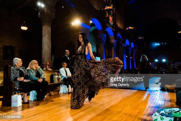 A model walks the runway at Sanctuary Fashion Weekon March 7 2019 in Los Angeles California