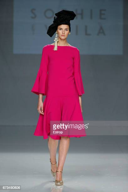 A model walks the runway at Sophie et Voilà show during Barcelona Bridal Fashion Week 2017 on April 26 2017 in Barcelona Spain